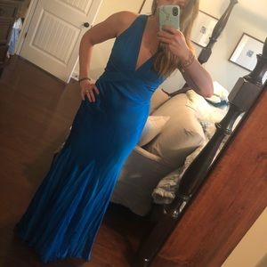 Royal blue formal cache gown